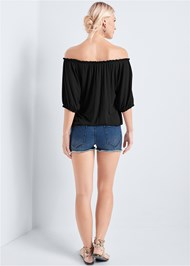 Back View Off The Shoulder Casual Top