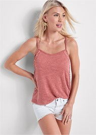 Alternate View Crochet Detail Tank