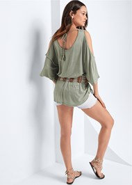 Back View Cold Shoulder Tunic