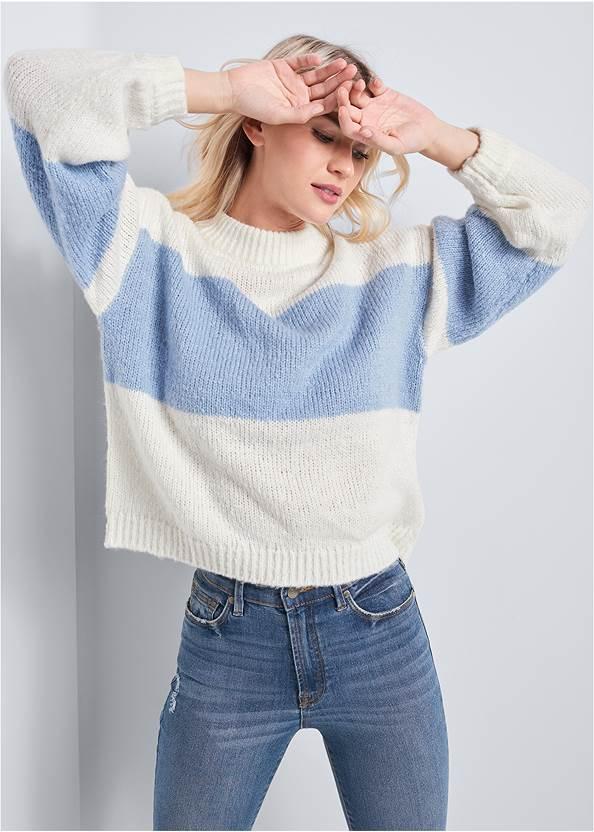 Oversized Sweater,Push Up Bra