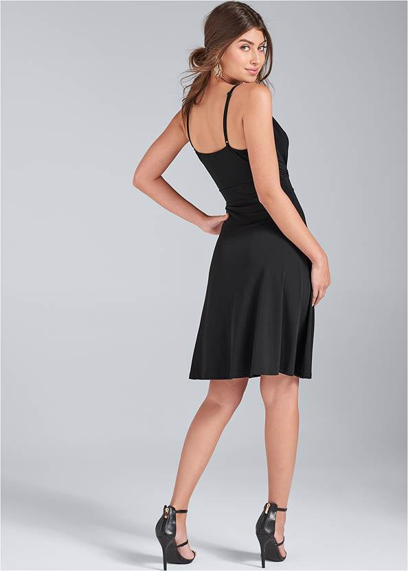 Back View Color Block Dress