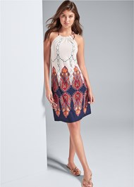 Alternate View Printed Casual Dress