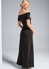 Back View Slit Detail Maxi Dress