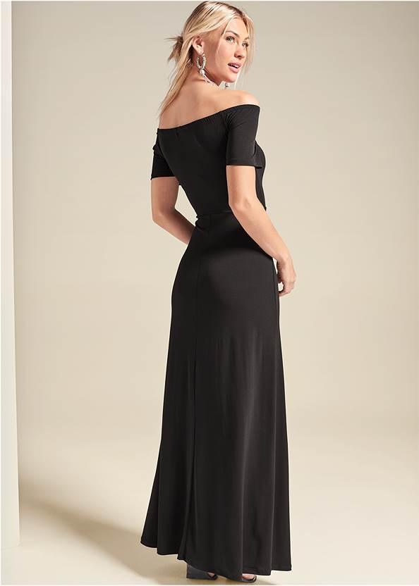 Back View Slit Detail Maxi Dress