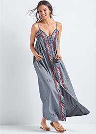 Alternate View Oversized Beaded Dress
