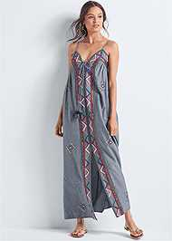 Front View Oversized Beaded Dress