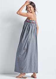 Back View Oversized Beaded Dress