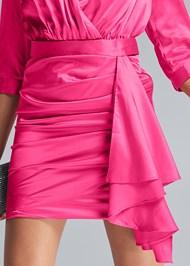 Alternate View Deep V Ruffle Front Dress