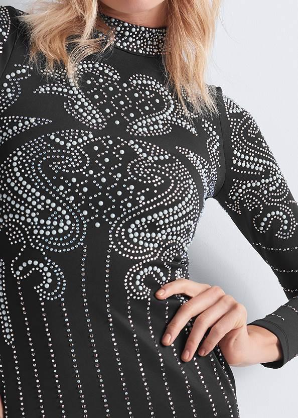Alternate View Embellished Mock Neck Dress