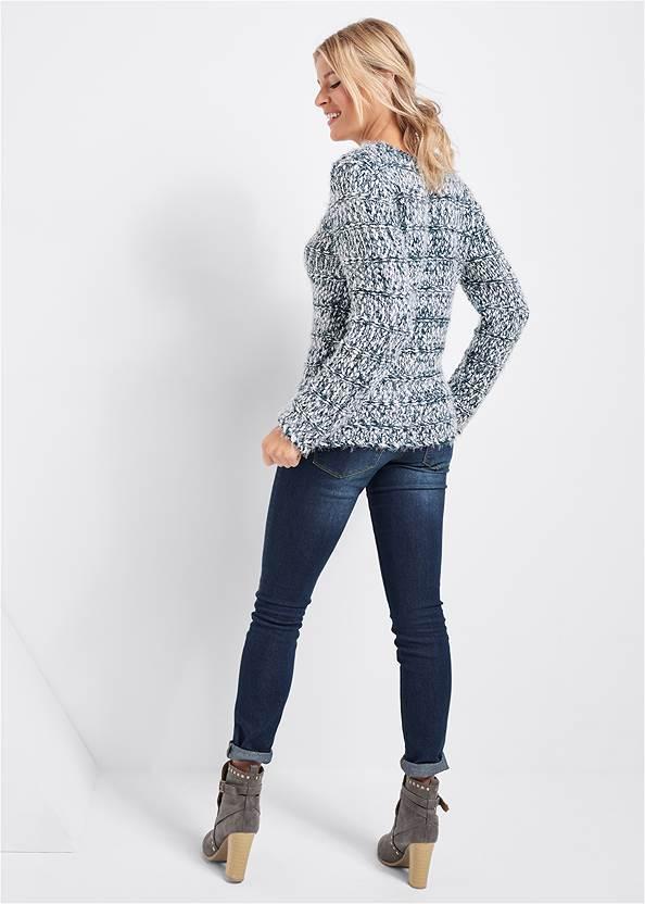 Full back view Marled Yarn Sweater