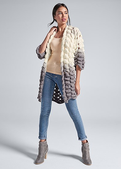 Chunky Open Knit Duster