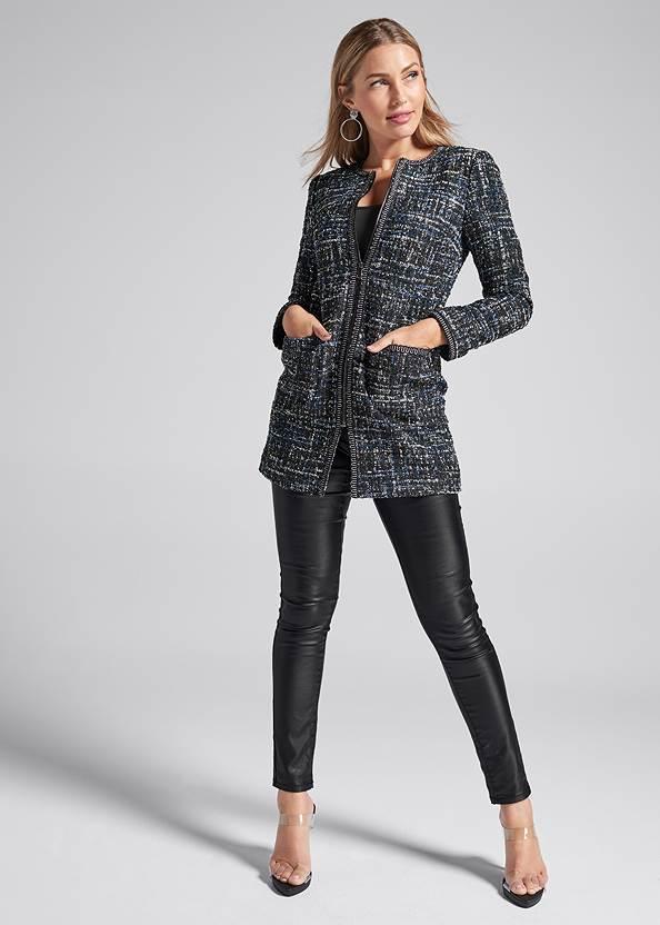 Alternate View Long Tweed Jacket