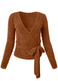 Alternate View Cozy Cross Front Sweater