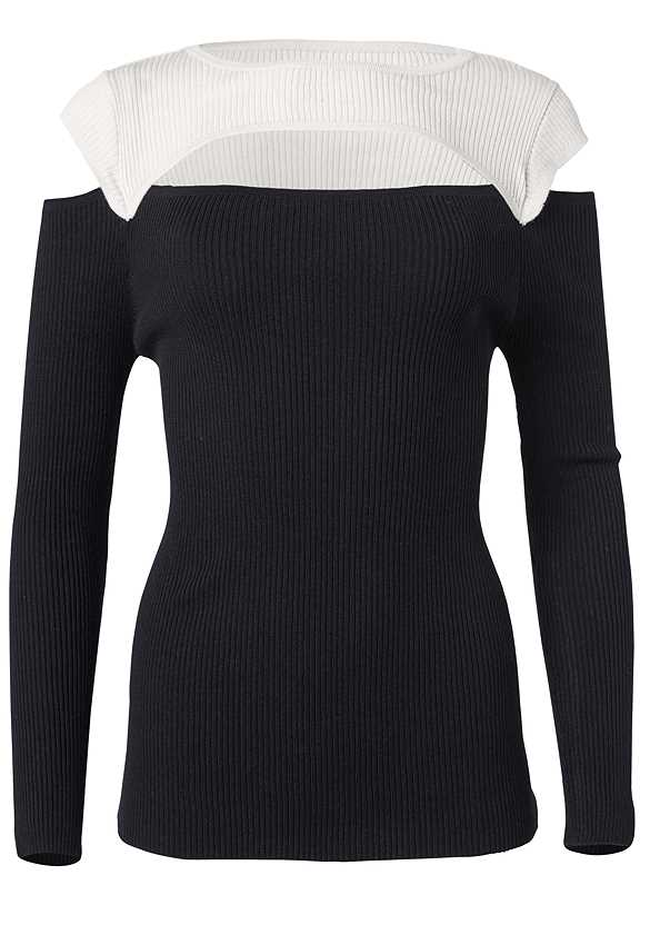Cut Out Ribbed Sweater,Mid Rise Color Skinny Jeans