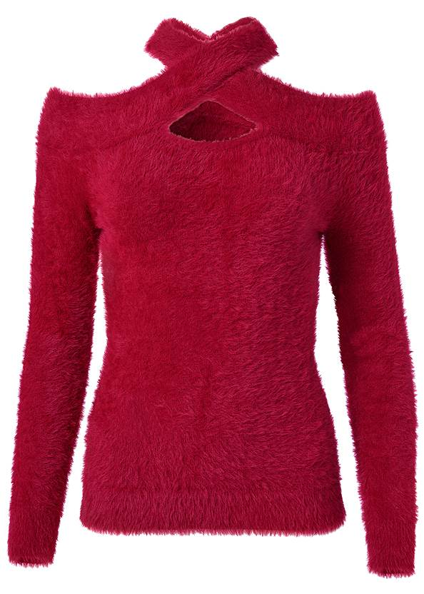 Alternate View Cozy Cross Neck Sweater