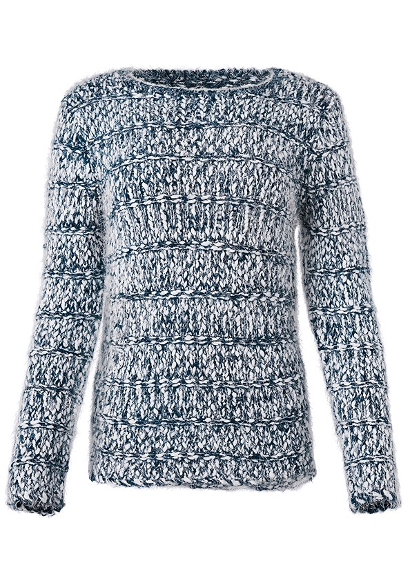 Marled Yarn Sweater,Mid Rise Color Skinny Jeans