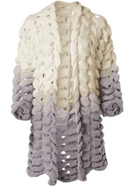 Ghost with background  view Chunky Open Knit Duster