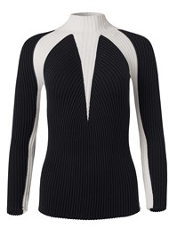 Alternate View Two Tone Mock Neck Sweater