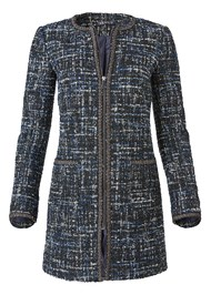 Alternate View Long Tweed Jacket