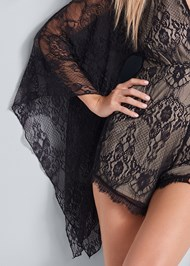 Alternate View Lace Detail Romper