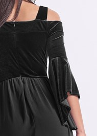 Alternate View Velvet Detail Romper