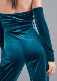 Detail back view Velvet Strapless Jumpsuit