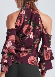 Alternate View Cold Shoulder Floral Top