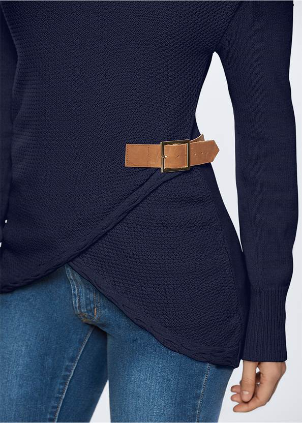 Alternate View Side Buckle Detail Sweater