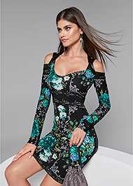 Detail front view Floral Strappy Dress