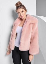 Front View Faux Fur Coat