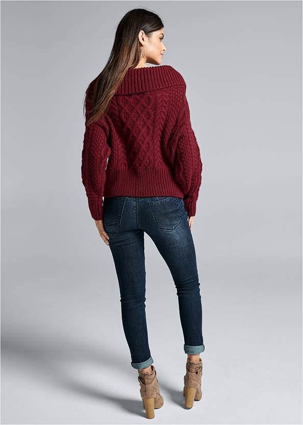 Alternate View Zip Front Cable Knit Cardigan