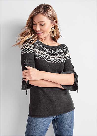 Fair Isle Long Sweater