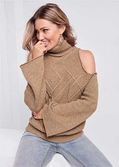 Cut Out Shoulder Sweater