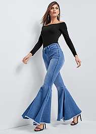 Front View Extreme Flare Jeans