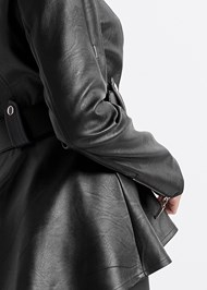 Alternate View Faux Leather Peplum Moto