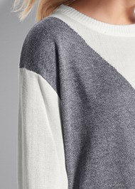 Detail front view Color Block Sweater
