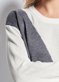 Alternate View Color Block Sweater
