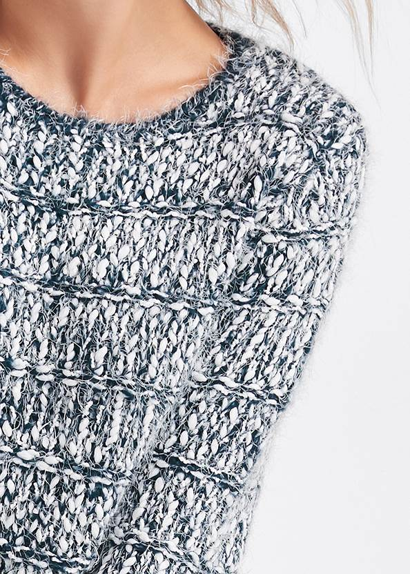 Detail front view Marled Yarn Sweater