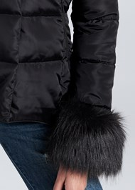 Alternate View Faux Fur Trim Puffer Jacket