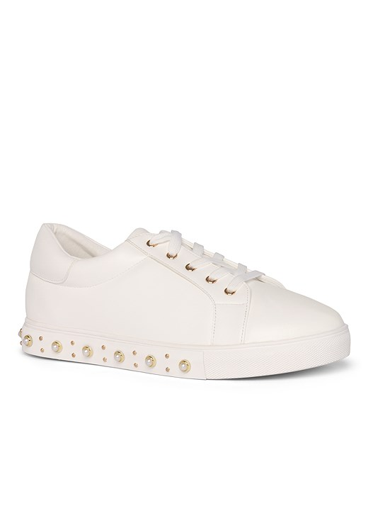 PEARL DETAIL SNEAKERS,OMBRE LOUNGE CAPRI SET