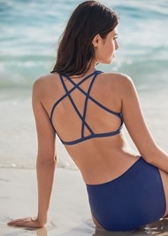 Back View Sporty Strappy Back Top