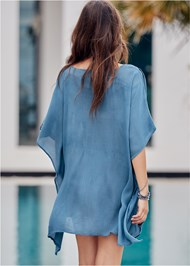 Back View Boho Beach Tunic Cover-Up