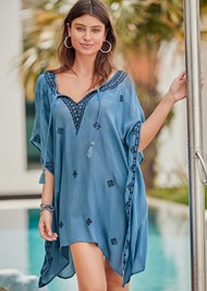 Front View Boho Beach Tunic Cover-Up
