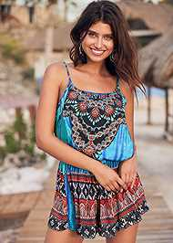 Front View Jewel Romper Cover-Up