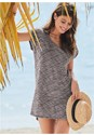 Front View Scoop Neck Cover-Up Dress