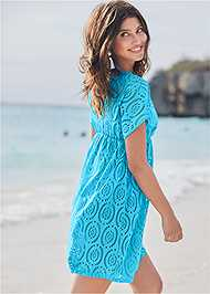 Back View Crochet Dolman Cover-Up
