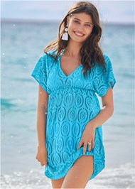 Front View Crochet Dolman Cover-Up