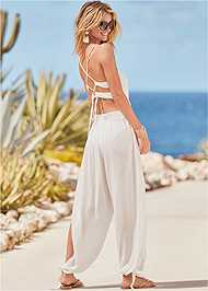 Back View Strappy Back Cover-Up Jumpsuit