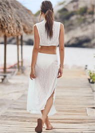 Back View Knotted Crochet Cover-Up