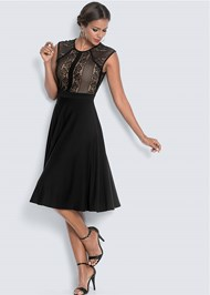 Full  view Lace Detail Dress